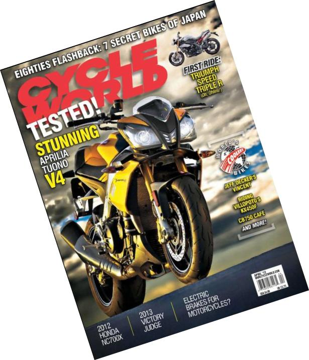 Cycle World Cover April2012