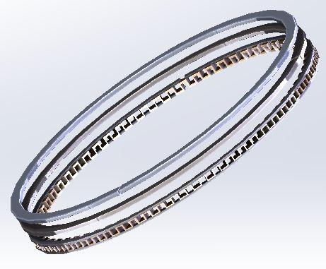 1WG 57mm Piston Ring Set